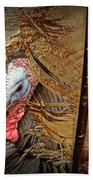 Turkey And Feathers Beach Towel