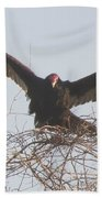 Turkey Vulture Beach Towel