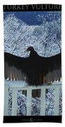 Turkey Vulture Sunning Beach Towel