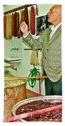 Turkish Rug Salesman Explains About Natural Dye Vats In Weaving Factory In Avanos-turkey  Beach Towel