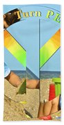 Turn Peace Around 2 Beach Towel by Charlie and Norma Brock