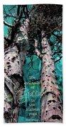 Turquois Trees  Beach Towel