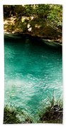 Turquoise River Waterfall And Pond Beach Towel