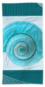 Turquoise Seashells Xvii Beach Towel