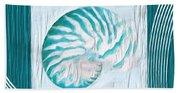 Turquoise Seashells Xxi Beach Towel