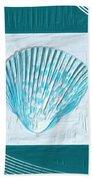 Turquoise Seashells Xxiii Beach Towel