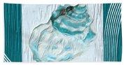 Turquoise Seashells Xxiv Beach Towel