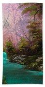 Turquoise Waterfall Beach Towel