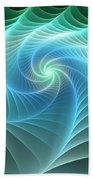 Turquoise Web Beach Towel