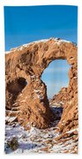 Turret Arch In Winter Beach Towel