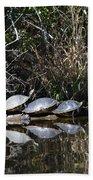 Turtle Lineup Beach Towel