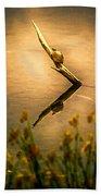Turtle On Golden Pond Beach Towel