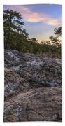 Turtle Rocks Atop Petit Jean Mountain - Arkansas Beach Towel