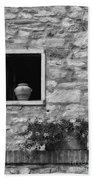 Tuscan Window And Pot Beach Towel