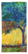 Tuscany Hill Side Shadows Beach Towel