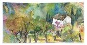 Tuscany Landscape 05 Beach Towel