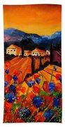 Tuscany Poppies Beach Towel