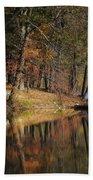 Tuxedo Lake Autumn Beach Towel