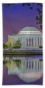 Twilight At The Thomas Jefferson Memorial  Beach Towel