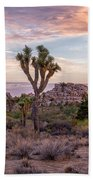Twilight Comes To Joshua Tree Beach Towel