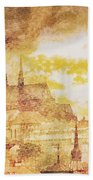 Twilight In Praha Beach Towel