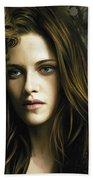 Twilight  Kristen Stewart And Robert Pattinson Artwork 1 Beach Towel