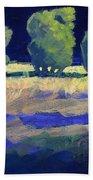 Twilight Landscape Beach Sheet