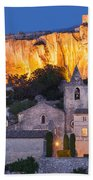 Twilight Over Les Baux Beach Towel