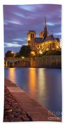 Twilight Over Notre Dame Beach Towel