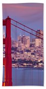 Twilight Over San Francisco Beach Towel