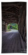 Twin Covered Bridges North Hartland Vermont Beach Towel