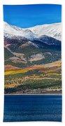 Twin Lakes Colorado Autumn Panorama Beach Towel