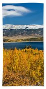 Twin Lakes Colorado Autumn Snow Dusted Mountains Beach Towel by James BO  Insogna