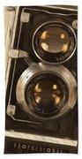 Twin Lens Reflex Redux Beach Towel