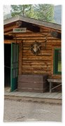 Twin No. 1 Cabin At The Holzwarth Historic Site Beach Towel