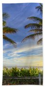 Twin Palms Beach Towel