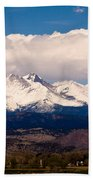Twin Peaks Snow Covered Beach Towel