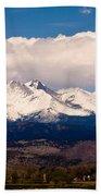 Twin Peaks Snow Covered Beach Sheet