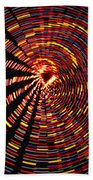 Twirling Under The Christmas Tree Beach Towel
