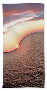 Twisted Sunset Beach Towel