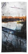 Two At The Dock Beach Towel