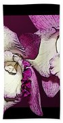Two Baby Orchids Beach Towel