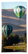 Two Balloons In Morning Sunshine Beach Sheet