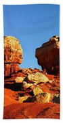 Two Big Rocks At Capital Reef Beach Towel by Jeff Swan