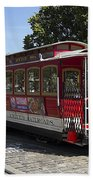 Two Cable Cars San Francisco Beach Towel
