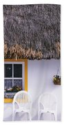 Two Chairs Outside A Cottage, County Beach Towel