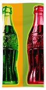 Two Coke Bottles Beach Towel