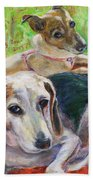 Two Dogs Beach Towel