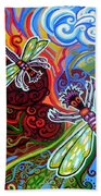 Two Dragonflies Beach Towel