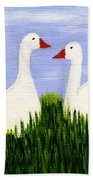Two Geese Beach Towel